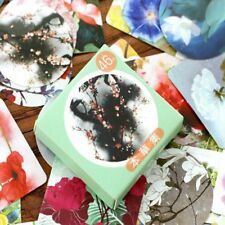 46 PCs/lot Paper Sticker Japanese Style Winds Various Flowers Plant