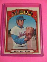 1972 Topps New York Mets Baseball Card #163 Tug McGraw NrMt NM Sharp