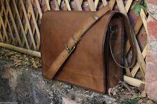 Satchel Briefcase Bag Vintage Crafts Leather Messenger Men's Women's Laptop NEW!