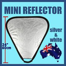 "24"" 60cm 2 in 1 Silver Translucent Portable Folding Photograph Light Reflector"
