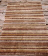Safavieh Hand-knotted Tibetan Stripes Rust Coffee Brown 100% Wool Rug (3'x 5')