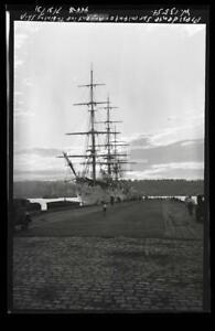 1931 Presidente Sarmiento Argentine Training Tall Ship Old Photo Negative H25
