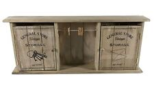 Vintage General Store Wall Mounted Key Storage Cabinet Box Shabby Chic Cupboard