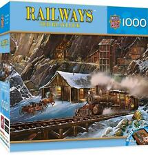MP RAILWAYS PUZZLE WHEN GOLD RAN THE RAILS TED BLAYLOCK 1000 PCS TRAINS # 71655