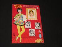 Tina Paper Doll Set by Saalfield Uncut Original Cut-Outs Vintage (k316)