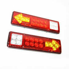 12v Led Rear Tail Lights Truck Lorry Trailer Tipper Transporter Chassis Bus