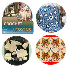 Learn How To Crochet, Knit, Cross Stitch +Over 3000 Patterns With Guide 4x DVD