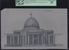 Turkmenistan-Merkezi Banky Transparec Vignette Proof (1988-03) Oguzkhan Palace