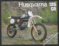 Brochure Prospectus Moto HUSQVARNA 125 CR  MOTO CROSS MOTOCROSS 1981