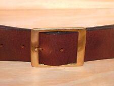 Rettangolo in ottone da 2 Pollici 50mm Wide Leather Jean Cintura Girovita Taglia Small Medium Large