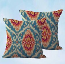 Us Seller-set of 2 home decor throw pillows ikat accent cushion cover