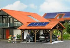 Busch Peak Roof Carport with Solar Panels 1571 HO Scale (suit OO also)