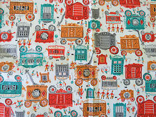 Vintage Circus Wagons Carnival Novelty Print Fabric craft quilting sewing