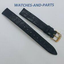 Longines Black Crocodile Leather Strap 13/12mm GENUINE ORIGINAL