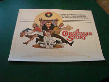 vintage movie poster: 1/2 sheet A CHRISTMAS STORY 1983 Original SCARCE 1/2 SHEET