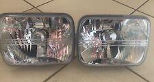 """FORD F100,F250 & F350 1979 - 86, A PAIR 7"""" X 5"""" CRYSTAL/DIAMOND CUT HEADLIGHTS"""