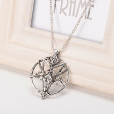 1pc  Satanic goat's Occult Ritual Vintage Baphomet Inverted Necklace Pendants