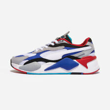 Puma RS-X3 Puzzle White Blue All Size Authentic Fashion Men's Sneakers- 37157005
