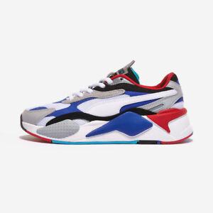 Puma RS-X3 Puzzle White Blue Authentic Men's Shoes - 37157005 Expeditedship