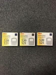 OKI 520/521 X 3 CARTRIDGE RIBBONS - 9 PIN