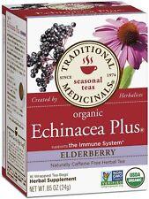 Traditional Medicinals Herbal Tea Bags, Echinacea Plus Elderberry 16 ea 5pk