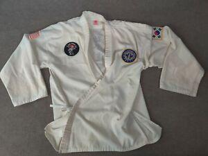 Sun Martial Arts Top Karate Taekwondo Uniform size 7 White Adult Size? Made USA