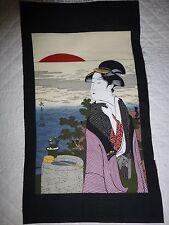 GEISHA Japanese Lady Fabric Panel Craft Quilting No.3 Kona Bay Oriental