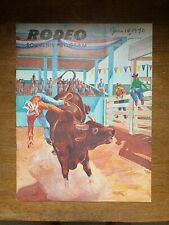 Vintage Antique 1970 Rodeo Official Souvenir Program Vg New York / New Jersey