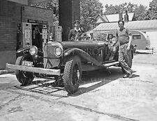 1950s Texaco gas station, 1920s Mercedes K car photo CHOICES 5x7 or request 8x10