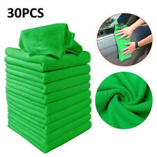 30x Green Microfiber Detailing Cloths Automotive Duster Cleaning Tool 30x30cm