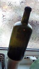 Victorian Black Glass crude Wine Bottle slanted angled crooked base