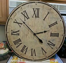 30 Inch Distressed Antique Wall Clock