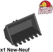 Lego - 1x vehicle voiture godet Digger Bucket 7 Teeth 3x6 noir/black 30394 NEUF