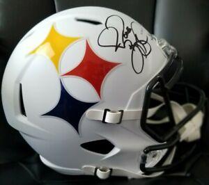 Jerome Bettis Autographed Signed Steelers AMP Full-Size Speed Rep Helmet JSA COA