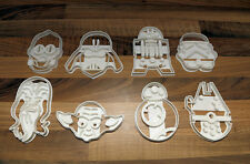 Cookie Cutters Vader Star Wars, Trooper, C3PO R2D2, BB8, Yoda, Masticables, Halcón