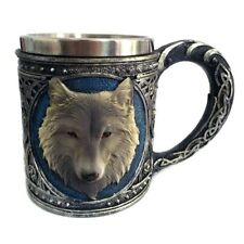 Game of Thrones Direwolf Coffee Mug Stark Wolf Inspired Cup Stainless Steel