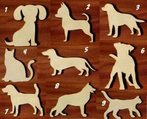 Animals Various sizes Laser cut MDF wooden Craft Set Shape Tags Embellishment v1
