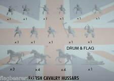 NAPOLEONIC BRITISH CAVALRY. HUSSARS. AIRFIX BATTLE OF WATERLOO. 1/72 SCALE