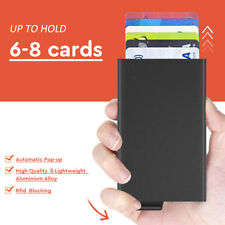 Wallet RFID Aluminum Slim Mini Automatic Pop Up ID Credit Card Holder Stylish