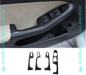 Carbon fiber Door Window Switch Panel trim For Volkswagen VW Jetta MK6 2011-2018