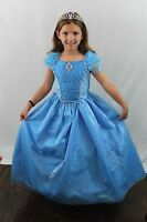 Cinderella Princess Ball Gown Boutique Deluxe Costume Queen Cosplay Kids NEW