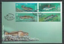 Kyrgyzstan 2021 Fauna Fish 4 FDC