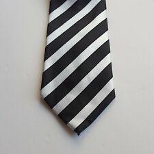 Alexander Logan Neckwear Men's Black/Silver Striped Tie And Pocket Square Set