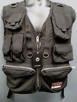 Men's Life Code Utility Cargo Vest with Straps - Black
