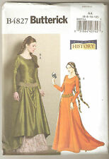 Butterick Sewing Pattern B4827 History - Medieval Gown & Belt Costume Sz 6-12