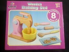 KidKraft Wooden Kids Pastel Baking Set Pretend Play Kitchen Toy - 63160