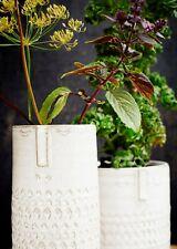 1 Tall Off White Ceramic Face Head Vase, Retro Mid Century Flower Pot Planter
