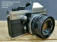 Praktica MTL5B WORKING CLA SEALS 35mm SLR Camera & Pentacon 50mm 1:1.8 Lens MTL5