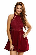 Abito ricamo Pizzo Taglie forti Grandi Curvy Formosa Plus Size Lace Dress XXL