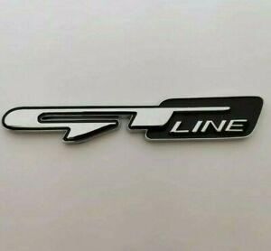 Silver Black Metal GT Line Badge Emblem Sticker for Kia Sportage Ceed Picanto